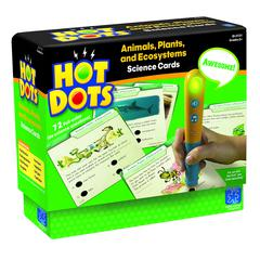 LEARNING RESOURCES HOT DOTS SCIENCE SET ANIMALS PLANTS AND ECOSYSTEMS