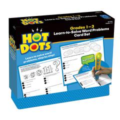 LEARNING RESOURCES HOT DOTS LEARN TO SOLVE WORD PROBLEM SET GR 1-3