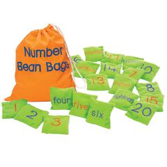 LEARNING RESOURCES NUMBER BEAN BAGS