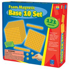 LEARNING RESOURCES FOAM MAGNETIC BASE 10 SET
