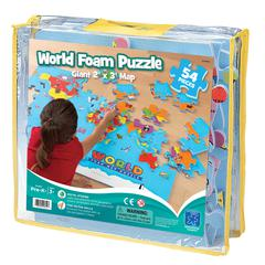LEARNING RESOURCES WORLD FOAM MAP PUZZLE