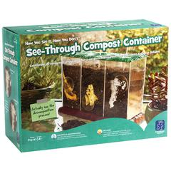 LEARNING RESOURCES NOW YOU SEE IT NOW YOU DONT SEE THROUGH COMPOST CONTAINER