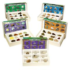 LEARNING RESOURCES ROCK MINERAL & FOSSILS COMPLETE COLLECTION