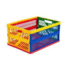ECR4KIDS COLLAPSIBLE CRATES VENTILATED SIDES LARGE MULTI-COLORED