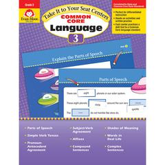 EVAN-MOOR GR 3 TAKE IT TO YOUR SEAT COMMON CORE LANGUAGE CENTERS