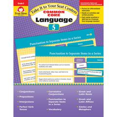 EVAN-MOOR GR 5 TAKE IT TO YOUR SEAT COMMON CORE LANGUAGE CENTERS