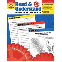 EVAN-MOOR READ AND UNDERSTAND WITH LEVELED TEXTS GR 4