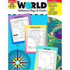 EVAN-MOOR THE WORLD REFERENCE MAPS & FORMS GR 3-6