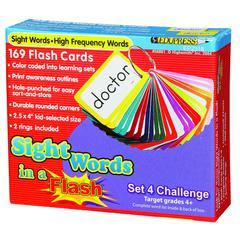 EDUPRESS SIGHT WORDS IN A FLASH SET 4 GR 4 & UP CHALLENGING