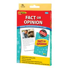 EDUPRESS FACT OR OPINION YLW LVL READING COMPREHENSION PRACTICE CARDS