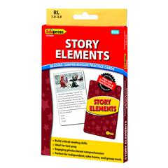 EDUPRESS STORY ELEMENTS YLW LVL READING COMPREHENSION PRACTICE CARDS