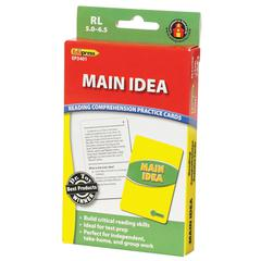 EDUPRESS MAIN IDEA PRACTICE CARDS READING LEVELS 5.0-6.5