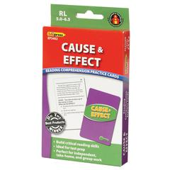 EDUPRESS CAUSE & EFFECT PRACTICE CARDS READING LEVELS 5.0-6.5