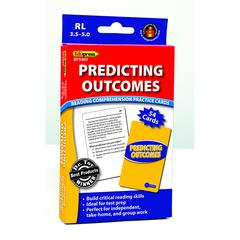 EDUPRESS PREDICTING OUTCOMES READING COMPREHENSION PRACTICE CARDS BLUE