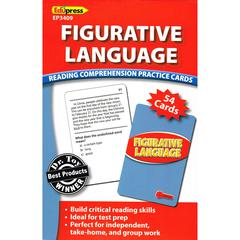 EDUPRESS FIGURATIVE LANGUAGE READING COMPREHENSION PRACTICE CARDS RED