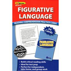 FIGURATIVE LANGUAGE READING COMPREHENSION PRACTICE CARDS BLUE