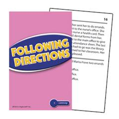 EDUPRESS FOLLOWING DIRECTIONS PRACTICE CARDS READING LEVEL 2.0-3.5
