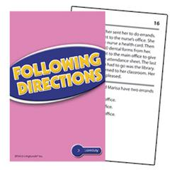 EDUPRESS FOLLOWING DIRECTIONS PRACTICE CARDS READING LEVEL 3.5-5.0