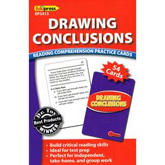 EDUPRESS DRAWING CONCLUSIONS READING COMPREHENSION PRACTICE CARDS RED
