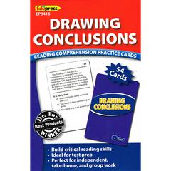 EDUPRESS DRAWING CONCLUSIONS READING COMPREHENSION PRACTICE CARDS BLUE