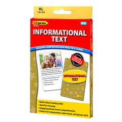 INFORMATIONAL TEXT YLW LVL READING COMPREHENSION PRACTICE CARDS