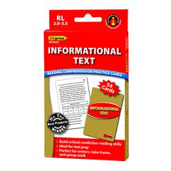INFORMATIONAL TEXT RED LVL READING COMPREHENSION PRACTICE CARDS