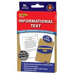 INFORMATIONAL TEXT BLUE LVL READING COMPREHENSION PRACTICE CARDS