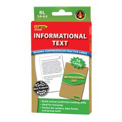 INFORMATIONAL TEXT GRN LVL READING COMPREHENSION PRACTICE CARDS
