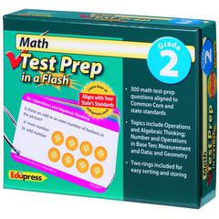 EDUPRESS MATH TEST PREP IN A FLASH GR 2