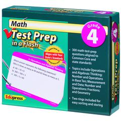 EDUPRESS MATH TEST PREP IN A FLASH GR 4