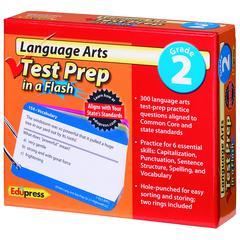 EDUPRESS LANGUAGE ARTS GR 2 TEST PREP IN A FLASH