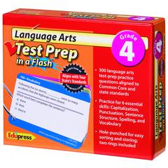 EDUPRESS LANGUAGE ARTS GR 4 TEST PREP IN A FLASH