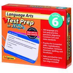 EDUPRESS LANGUAGE ARTS GR 6 TEST PREP IN A FLASH