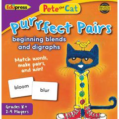 PETE THE CAT PURRFECT PAIRS GAME BEGINNING BLENDS AND DIGRAPHS