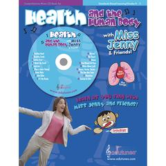 EDUTUNES HEALTH AND THE HUMAN BODY WITH MISS JENNY & FRIENDS CD BOOK SET