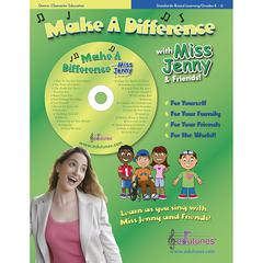 MAKE A DIFFERENCE WITH MISS JENNY & FRIENDS CD BOOK SET
