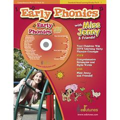 EDUTUNES EARLY PHONICS WITH MISS JENNY & FRIENDS CD BOOK SET
