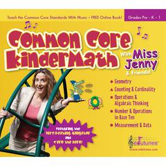 EDUTUNES COMMON CORE KINDERMATH WITH MISS JENNY & FRIENDS CD BOOK SET