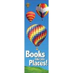 BOOKS TAKE YOU PLACES BOOKMARKS