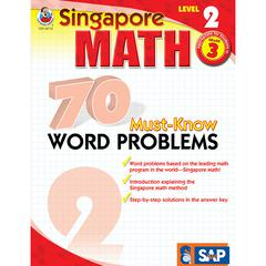CARSON DELLOSA SINGAPORE MATH LEVEL 2 GR 3 70 MUST KNOW WORD PROBLEMS