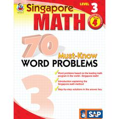 CARSON DELLOSA SINGAPORE MATH LEVEL 3 GR 4 70 MUST KNOW WORD PROBLEMS