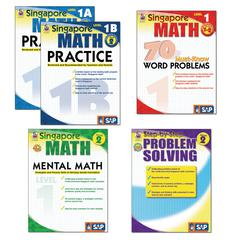 CARSON DELLOSA SINGAPORE MATH BUNDLE GR 1-2