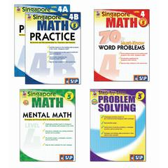 CARSON DELLOSA SINGAPORE MATH BUNDLE GR 5