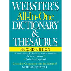 FEDERAL STREET PRESS WEBSTERS ALL IN ONE DICTIONARY & THESAURUS SECOND EDITION