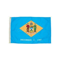 3X5 NYLON DELAWARE FLAG HEADING & GROMMETS