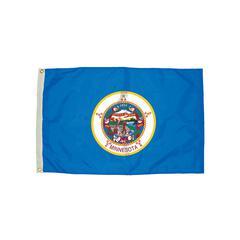 FLAGZONE 3X5 NYLON MINNESOTA FLAG HEADING & GROMMETS