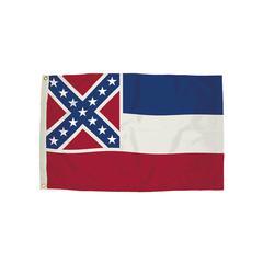 FLAGZONE 3X5 NYLON MISSISSIPPI FLAG HEADING AND GROMMETS