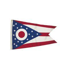 FLAGZONE 3X5 NYLON OHIO FLAG HEADING & GROMMETS