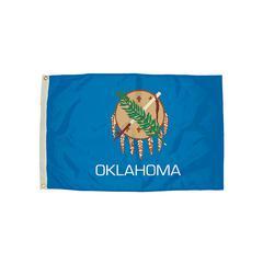3X5 NYLON OKLAHOMA FLAG HEADING & GROMMETS