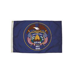 3X5 NYLON UTAH FLAG HEADING & GROMMETS